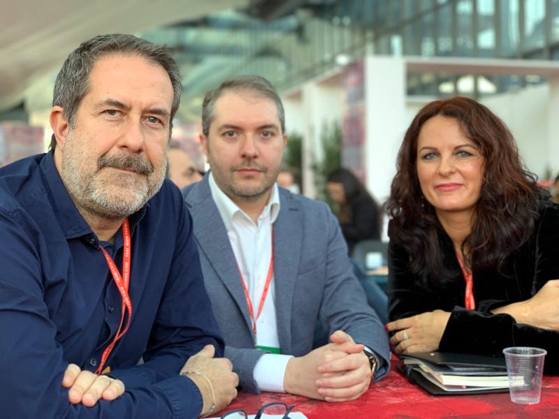 Magdalena Parys con Alessandro Amenta e David Frati
