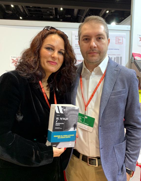 Magdalena Parys con il traduttore Alessandro Amenta