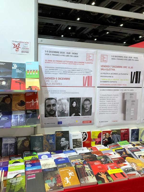 Lo stand Mimesis a Più libri più liberi 2018