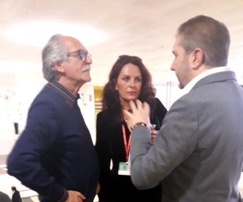 Magdalena Parys con Alessandro Amenta e Corradino Scipioni a Più libri più liberi 2018
