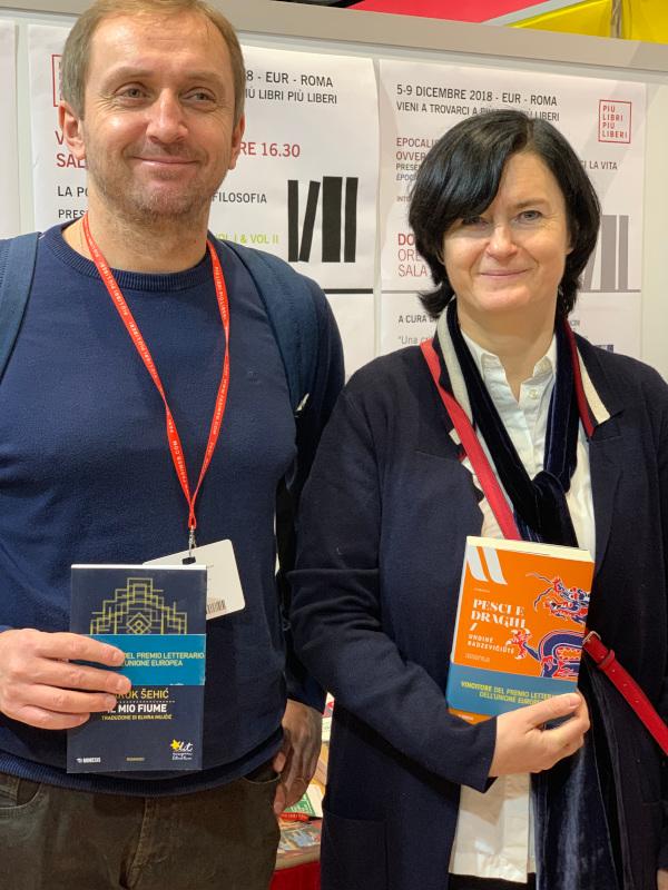 Undinė Radzevičiūtė e Faruk Šehić a Più libri più liberi